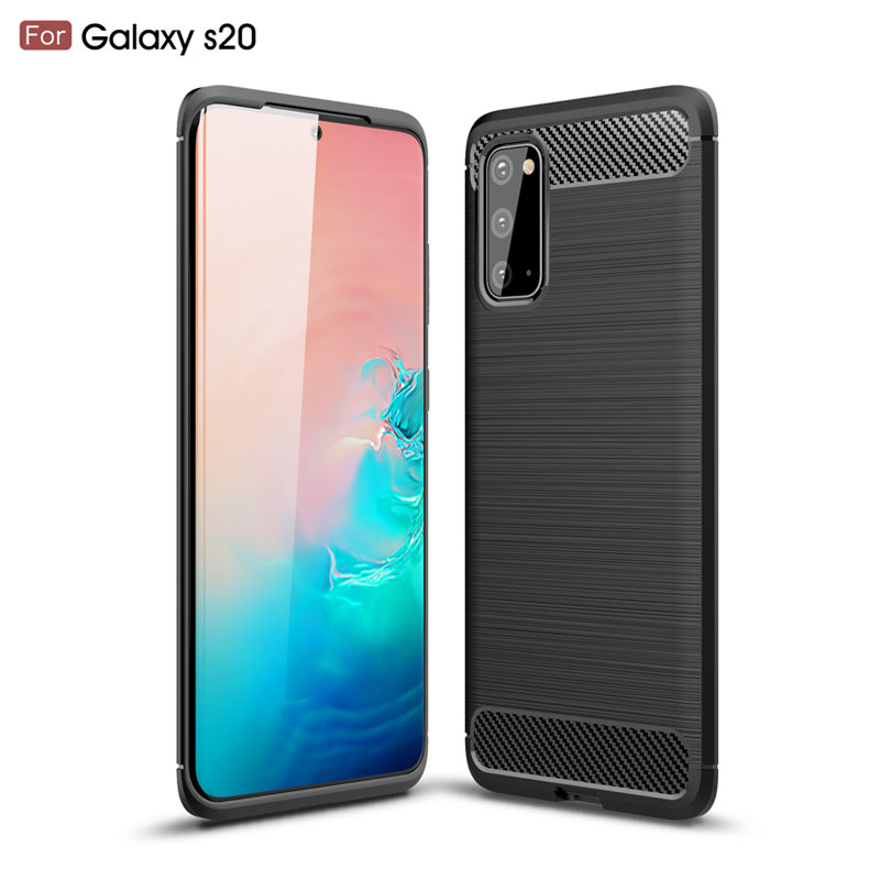 Soft cilicone <font><b>case</b></font> for <font><b>samsung</b></font> s20 s10 thin tpu back cover for <font><b>galaxy</b></font> <font><b>s11</b></font> s10plus non-slip protective <font><b>case</b></font> for <font><b>samsung</b></font> s20plus image