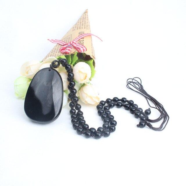 Высококачественная Подвеска из черного дерева обсидиана резная