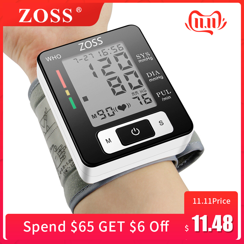 english or russian voice cuff wrist sphygmomanometer
