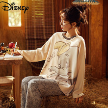 Disney Dumbo pajamas women's 100% cotton spring and autumn thin style long-sleeved home service suit