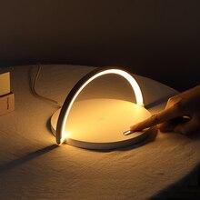 Быстрая Qi Беспроводная зарядная Настольная лампа для iPhone 8Plus X XR XS 11 PRO Max samsung S10 5G S9+ S8 Note10 9 зарядный ночной Светильник Pad