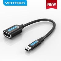 Vention-miniadaptador de Cable USB OTG para coche, adaptador Mini USB 2,0 macho a USB 2,0 hembra, Audio, tableta, MP3, MP4, Cable USB OTG