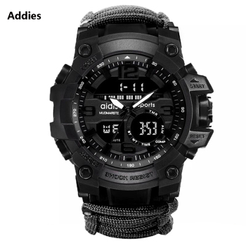 Men Sports Watches Shock Outdoor Compass Military Digital Watch Mens Wristwatch Waterproof Quartz Men's Clock Relogio Masculino ohsen men shock resistant sports watch quartz hour digital watch military 30m waterproof silicone strap led dual time wristwatch