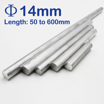 Diameter 14mm Aluminum Solid Block Round Bar/Rod Long 50mm to 600mm round copper sheet 0 5mm diameter 50mm to 100mm
