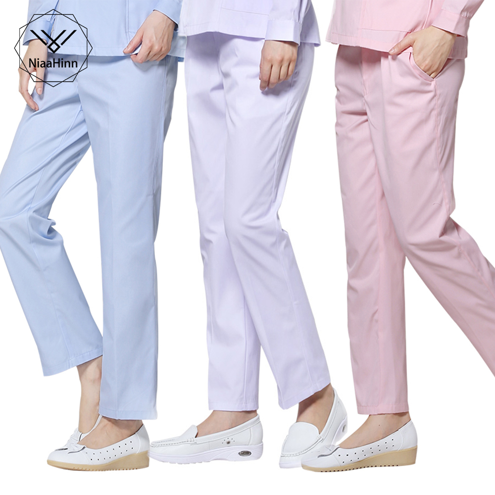 Dental Medical Scrub Pants Hospital Nursing Work Trousers SPA Nursing Scrub Pants Cotton Three Pockets Doctor Uniform Bottoms