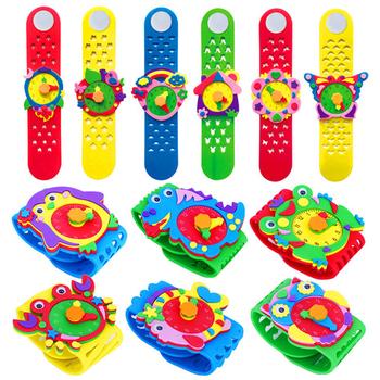 3 sztuk rzemiosło dzieci zabawki dla dzieci Cartoon EVA zegarek Puzzle przedszkole śmieszne diy rzemiosło dzieci zabawki dla dziewczynek zabawki dla dzieci 03 tanie i dobre opinie Bright shell 5 ~ 7 Lat 8 ~ 13 Lat 14 Lat i up Zwierzęta i Natura 19903 Chiny certyfikat (3C) keep away from fire Rainbow papieru