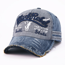 Hot Selling Letter Embroidery for Old Bullhead Baseball Cap Locomotive Washing Male and Female Duck Tongue Cap