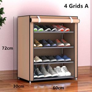 Image 4 - Multilayers נירוסטה נעל Rack הבית ארגונית עבור נעל מדף ארון אבק הוכחה ברזל מדפי עבור נעלי אחסון מדף מדף