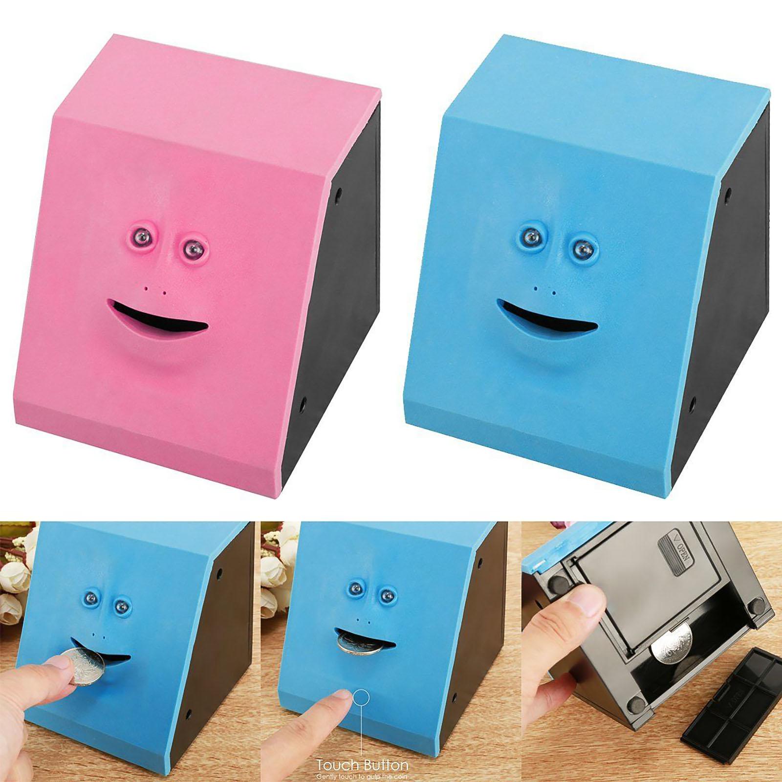 Human Face Piggy Bank Box Saving Bank Coins Box Money Coin Toys Saving Bank For Children Gift Candy Machine Home Decoration Toys