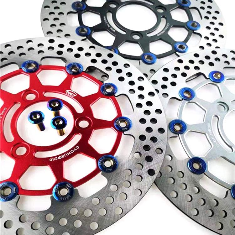 Универсальный кронштейн NCY CNC для тормозного диска мотоцикла 260 мм, адаптер для Yamaha Honda KTM Kawasaki Suzuki BWS dio JOG Cygn Aerox|Комплекты тормозных колодок|   | АлиЭкспресс