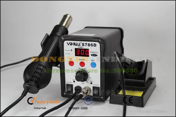 YH8786 D Advanced Hot Air Soldering Station  SMD Rework Station With 8 In 1 Parts Package