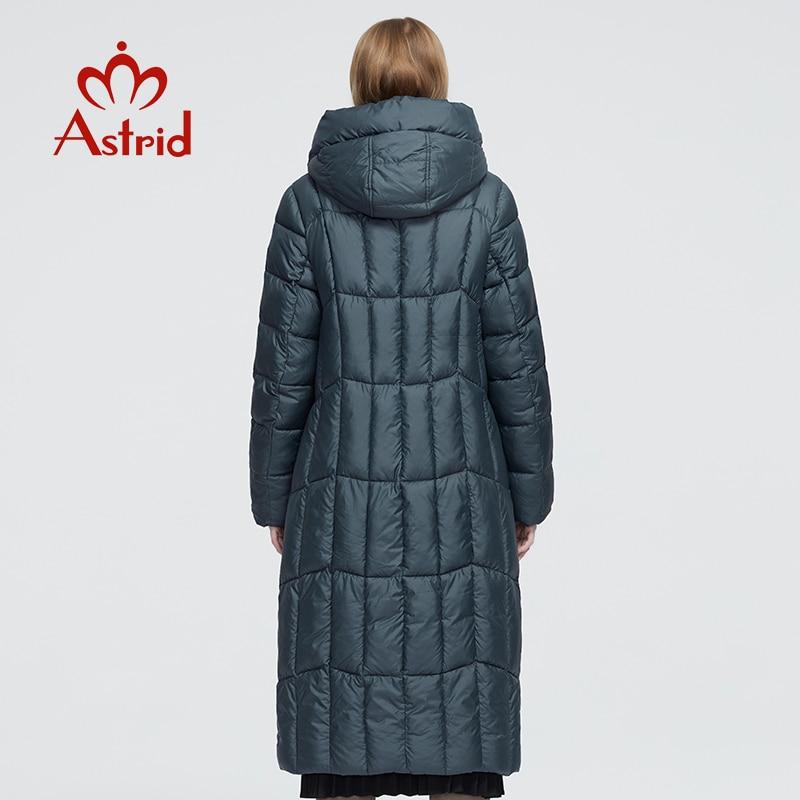 Astrid 2020 delle Nuove donne di Inverno cappotto lungo delle donne parka caldo Plaid di modo di spessore Giacca con cappuccio Bio-Imbottiture femminile disegno di abbigliamento 9546