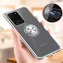 For Samsung Galaxy Note 10 Plus Case Transparent Ring Soft Silicone TPU Case For S10 Plus