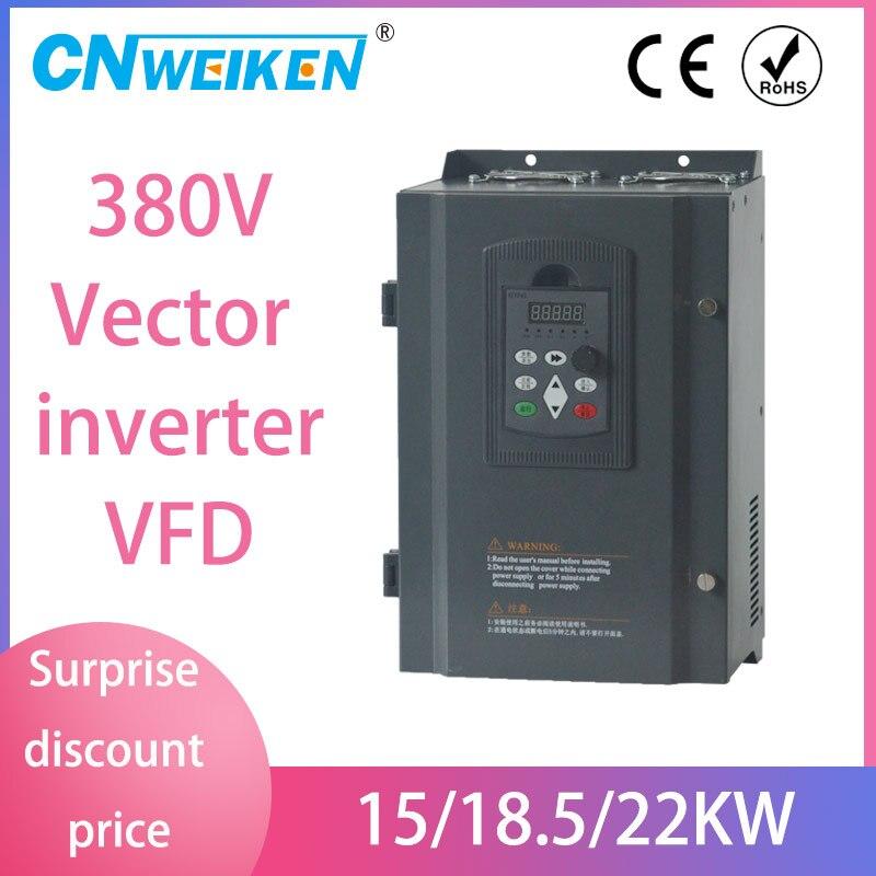 VFD AC 380V 15/18.5/22kw wektor napęd o zmiennej częstotliwości 3 fazy falownik do kontroli prędkości dla maszyna do makaronu silnika