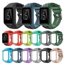 Sangle de remplacement pour TomTom 2 3 étincelle coureur musique Cardio GPS Bracelet de montre Bracelet de montre Bracelet Silicone ceinture accessoire