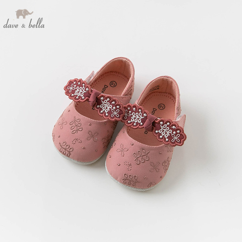 DB13839 Dave Bella Spring Baby Girl Floral Toddler Shoes First Walker Children Brand Shoes