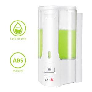 Image 1 - 400ml Automatic Liquid Soap Dispenser Wall Mounted Sensor Soap Dispenser Hand Sanitizer Shampoo Container for Kitchen Bathroom