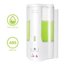 Dispensador automático de sabão líquido, dispensador automático de sabão líquido com sensor de montagem na parede, recipiente para shampoo, de mão, para cozinha e banheiro, 400ml