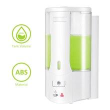 Distributeur automatique de savon mural de 400ml, à capteur, désinfectant pour les mains, récipient de shampoing pour cuisine et salle de bains