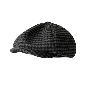 2021New męskie zimowe gazeciarz kapelusze Vintage jodełkę Octagon Cap kobiety Gatsby czapka z płaskim daszkiem Tommy Shelby Peaky Blinders kapelusz BLM309 tanie i dobre opinie Akrylowe Wełniana CN (pochodzenie) Dla osób dorosłych Unisex W paski Na co dzień Berety