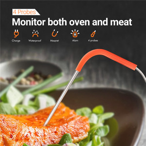 Image 3 - Inkbird IBBQ 4T Wi Fi Meat Digital Thermometer Rainproof Magnetic Alarm Thermometer for Kitchen Smoker Grilling with 4 Probes