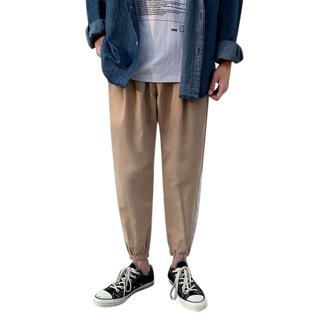 Sportswear Pantalones Striped-Feet Men's Fashion with Hombre -Pants Nine-Minute New-Style