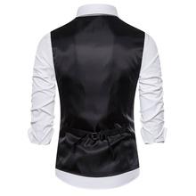 Black And White Plaid Double Breasted Men's Suit Vest
