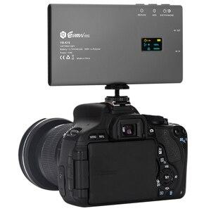 Image 4 - YB K10 כיס בגודל על מצלמה LED וידאו אור 180 נוריות אור גבוהה CRI 3200 K 5600 K צילום מנורת עבור Sony ניקון DSLR