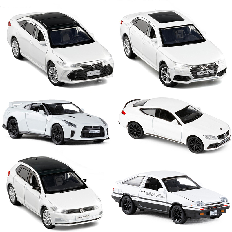 9 Styles White Color Model Car Vehicles Diecast Alloy Metal For Super Sport Car Luxury Collection Gift Toy For Kids V134