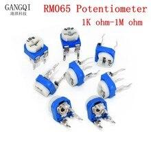 20pcs RM065 RM-065 Trimpot Trimmer Potentiometer 100 200 500 ohm 1K 2K 5K 10K 20K 50K 100K 200K 500K 1M ohm 100R 200R 500R