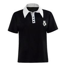 Cosdaddy amamiya ren preto camiseta escola uniforme cosplay traje
