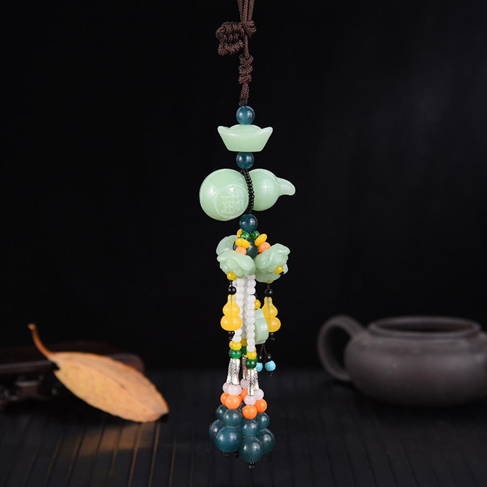Image 5 - Car Pendant Jade Gourd Auto Hanging Ornaments Originality Blessing Decoration Rearview Mirror Car Interior Accessories-in Ornaments from Automobiles & Motorcycles