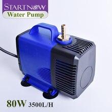 Startnow 80W energooszczędna pompa wodna do hodowli ryb Fountainpond akwarium CO2 Laser 3500L/H przepływ 220V wielofunkcyjna pompa