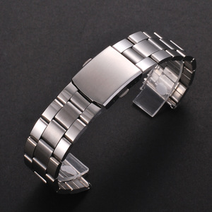 Stainless Steel Watch Strap 12/14/16/18/20/22mm Watch Bracelet Band Silver Metal Watchband with Folding Clasp for Men Women