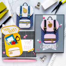 Metal Cutting Dies of School bag that can be opened dies for Scrapbooking and Cards Making Embossing Craft