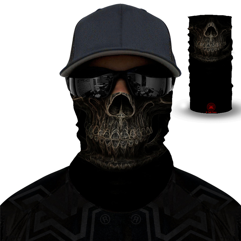 Halloween Clown Windproof Skull Magic Scarf Cycling Fishing Mask Turban Neck Leggings Balaclava Seamless