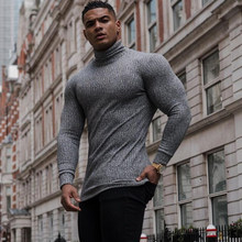 New Autumn Winter Turtleneck Thin Mens Sweaters Casual Roll Neck Solid Color Warm Slim Fit Sweaters Men Turtleneck Pullover Male