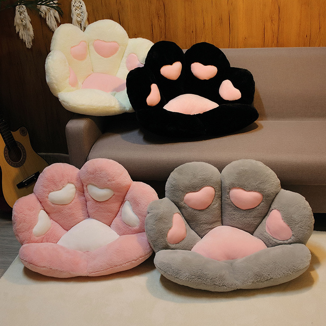 1 PC INS NEW Paw Pillow Animal Seat Cushion Stuffed Small Plush Sofa Indoor Floor Home Chair Decor Winter Children Gift 2