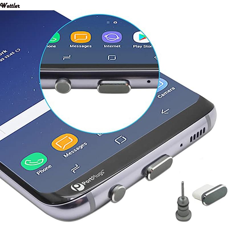 Usb tipo c anti poeira plug porto de carregamento e 3.5mm fone de ouvido jack recuperar cartão pino para huawei xiaomi honra samsung acessórios|Dust plug celular|   -