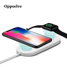 Беспроводное зарядное устройство 2 в 1 Qi для iPhone 11 Pro Xr X S Max Apple Watch 3 2, беспроводная зарядная площадка для Samsung S8 S9 S10 Plus, зарядное устройство