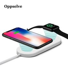 2 in 1 Qi Drahtlose Ladegerät Für iPhone 11 Pro Xr X S Max Apple Uhr 3 2 Drahtlose Lade pad Für Samsung S8 S9 S10 Plus Ladegerät
