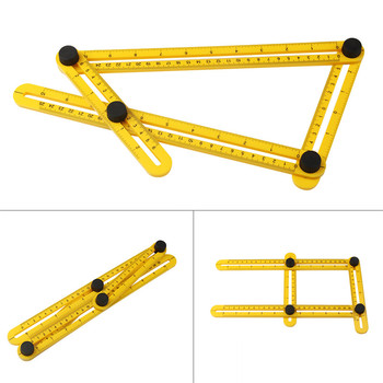 Multi Template Tool Angle Measuring Protractor Ruler Builders Craftsmen Engineers Layout Woodworking Folding Rulers