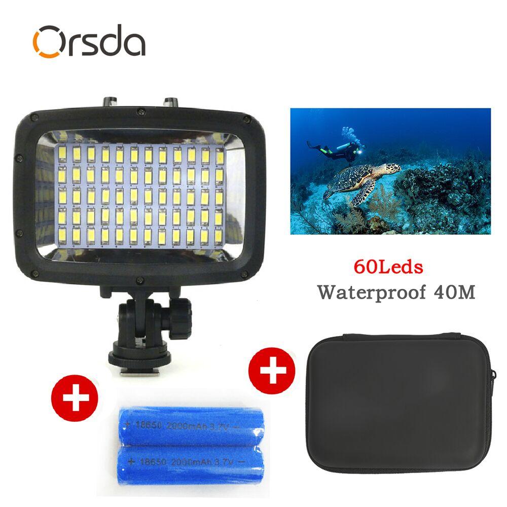 Gopro luz 40m Câmera Subaquática de Mergulho À Prova D' Água Luz Da Lâmpada com LEDs de Alto Brilho para GoPro SJCAM ACTION Xiao Yi câmera