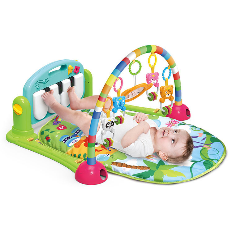 Newborns Kick And Play Piano Gym Mat Baby Toys Multi-functional Early Childhood Music Baby Creeping Mat