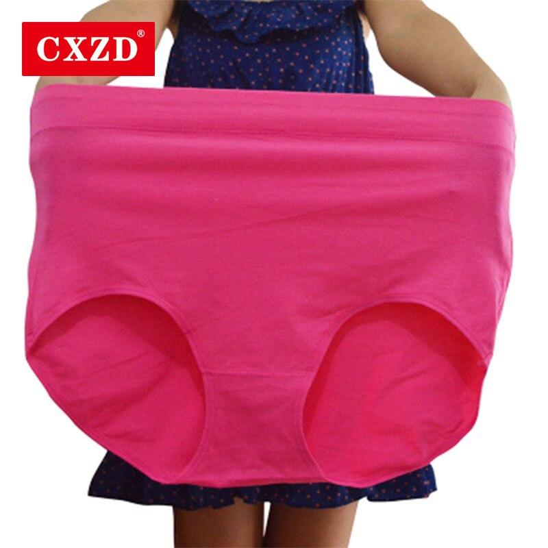CXZD VIP Hot Sale Women's Plus Size Briefs Microfiber Super Stretchy Soft Breathable Middle Waist Briefs Panties