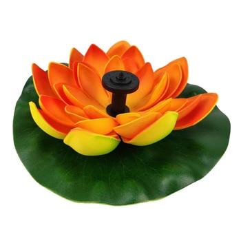 Solar Lotus Fountain Flower Water Pump Courtyard Landscape Colors Garden Pond