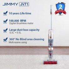 JIMMY JV71 вертикальный ручной беспроводной пылесос портативный беспроводной сильный всасывающий ковер циклонный пылесборник для xiaomi