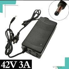 1PCS best price Intelligent Charger 42V 3A for 10 Series 36V 37V Li Ion E bike Electric Charger DC 5.5mm * 2.1mm Fast Charging