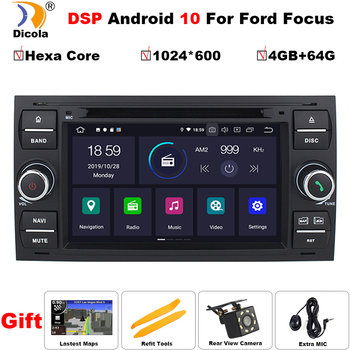 PX6 DSP Hexa Core Car Multimedia Player Android 10 GPS Autoradio For Ford/Mondeo/Focus/Transit/C-MAX/S-MAX/Fiesta 64GB ROM DVD image