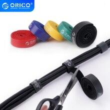 Orico 5 pçs velcro cabo enrolador fio organizador fone de ouvido cabo mouse cabo marca laços coloridos etiqueta para fio CBT 5S